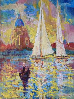 Entrance of Sailboats to Venice