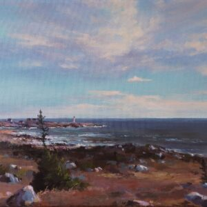 """Evening over Peggy's Cove (12x24x01.5"""")"""